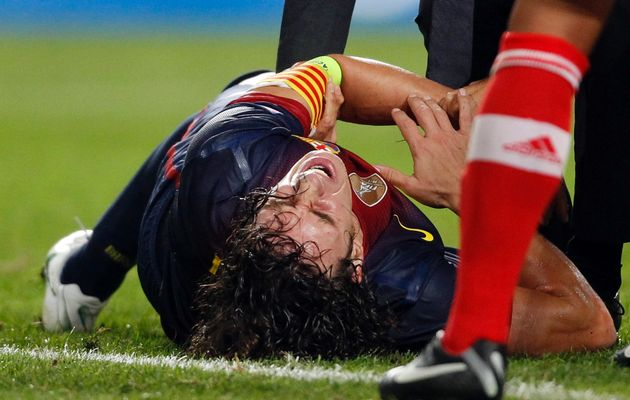 Carles Puyol is out for eight weeks