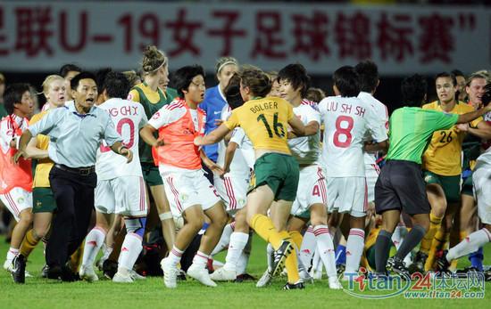 Tajik footballers beat referee