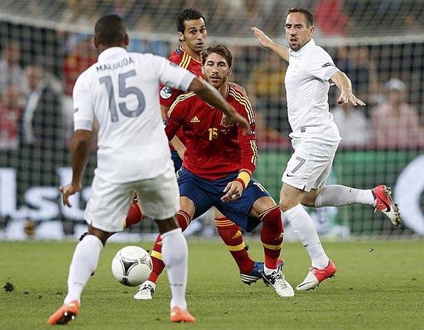 Чемпионат мира-2014. Отборочный турнир. Франция — Испания — 0:1. Хроника моментов