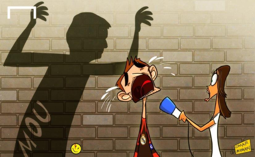 Лучшая карикатура дня. Моуринью до слез напугал Касильяса
