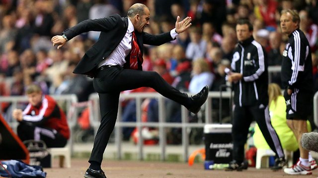 Di Canio is happy with team's performance against Stoke City