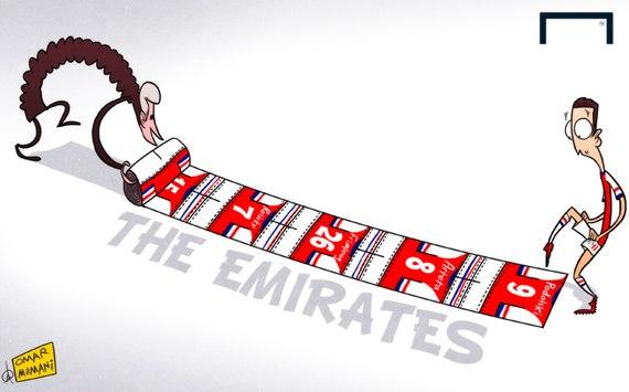 Лучшая карикатура дня. Венгер постелил ковровую дорожку для Озила на пути в «Арсенал»