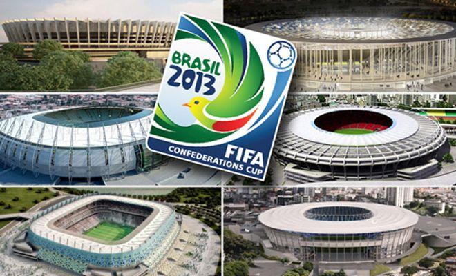 Шесть стадионов, на которых пройдут матчи Кубка конфедераций-2013