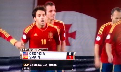 На телеканале ESPN перепутали флаги США и Грузии