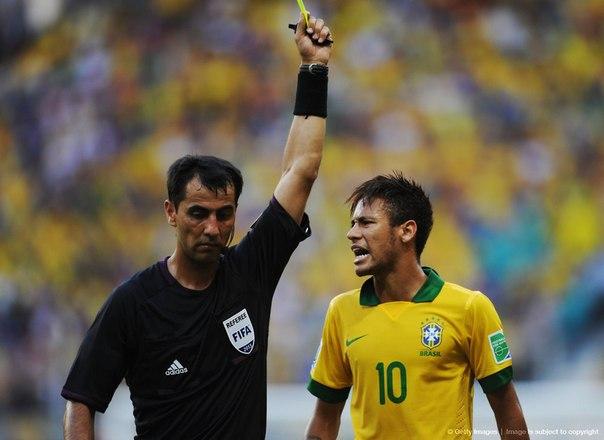 Неймар стал самым грубым игроком групповой стадии Кубка конфедераций-2013