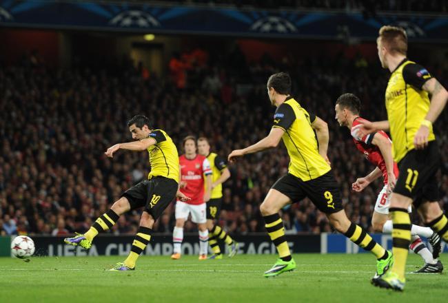Лига чемпионов-2013/14. «Боруссия» (Дортмунд) — «Арсенал». Онлайн-трансляция начнется в 23.45