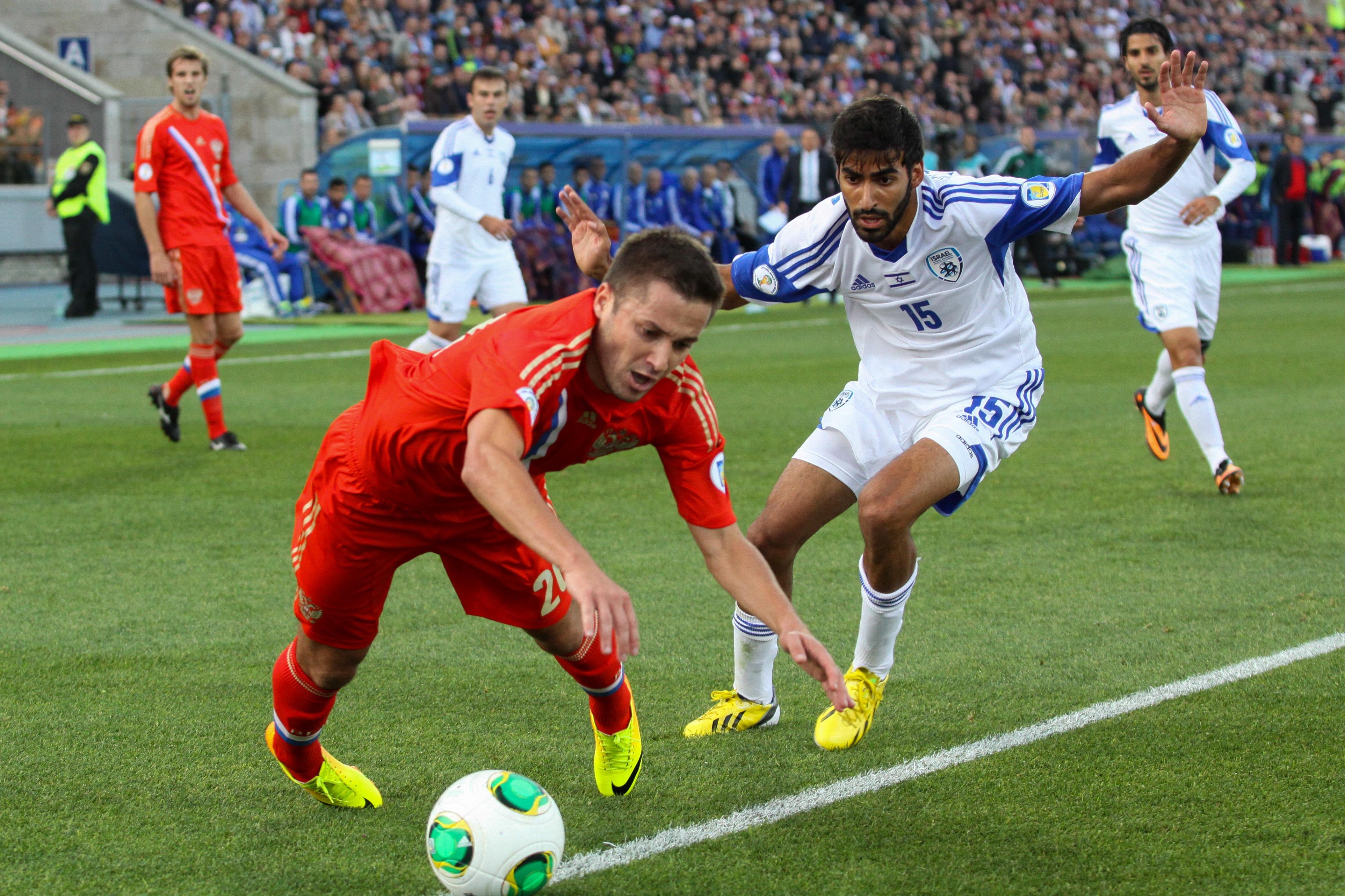 Топ-8 лучших кадров матча Россия — Израиль — 3:1