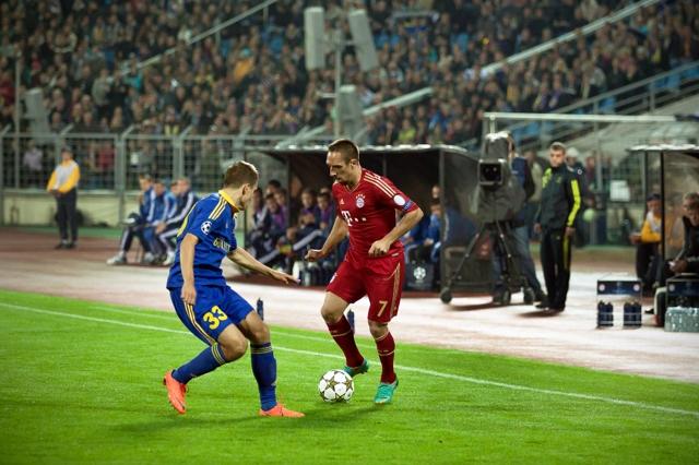 Лига чемпионов-2012/13. Группа «F». БАТЭ — «Бавария» — 3:1. «День победы»