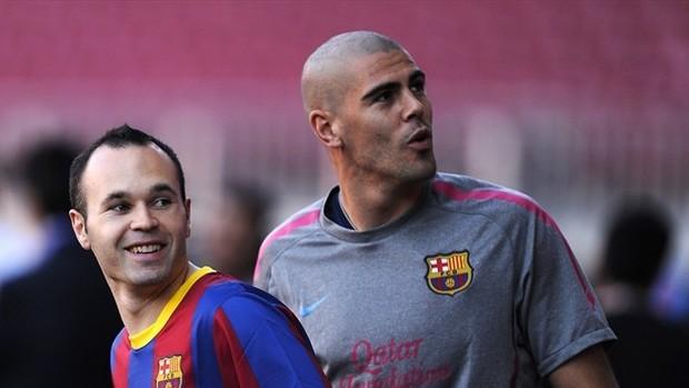 Андрес Иньеста: «Не смогу сдержать слезы, когда Вальдес будет уходить из «Барселоны»