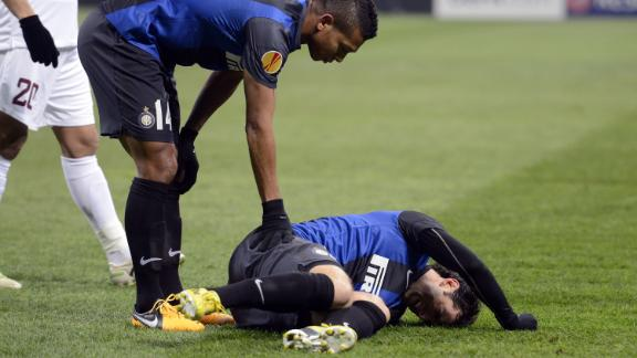 Milito is sidelined for the rest of the season