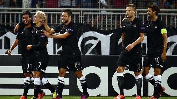 Лига чемпионов. Раунд плей-офф. «Реал Сосьедад» — «Лион» — 2:0. Хроника баскского триумфа