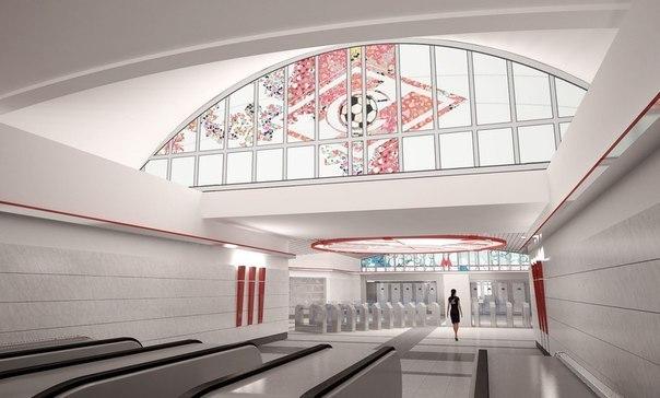 Станцию метро «Спартак» откроют одновременно со стадионом «красно-белых» (ФОТО)