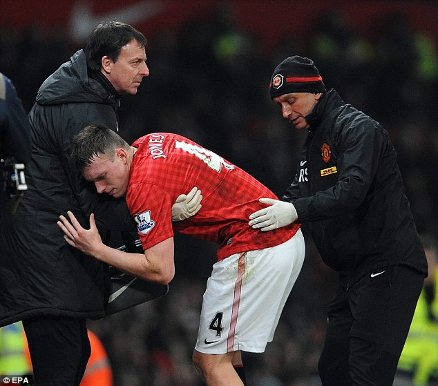 Phil Jones' injury is a blow for Man Utd