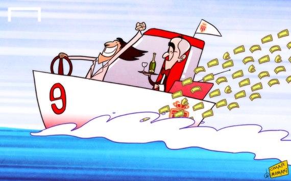 Лучшая карикатура дня. Радамеля Фалькао не смущает шквал критики за переход в «Монако»