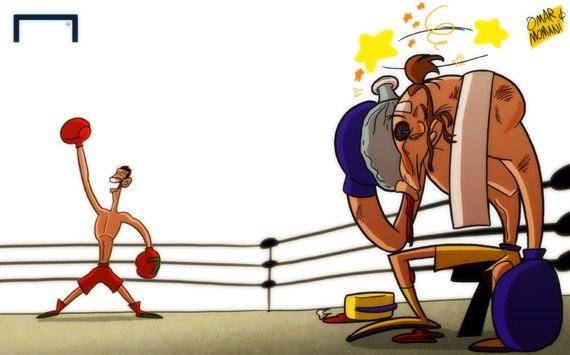 Лучшая карикатура дня. Роналду выиграл первый раунд у Ибрагимовича