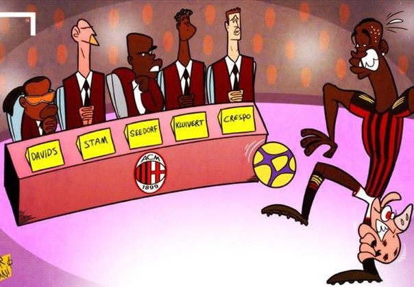 Лучшая карикатура дня. На старте тренерской карьеры Кларенса Зеедорфа в «Милане»