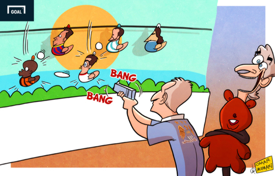 Карикатура. На прицеле у «Манчестер Сити»
