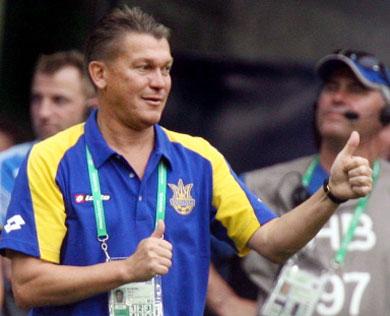 Главный тренер сборной Украины Олег Блохин: «С англичанами будем играть как «Барселона»