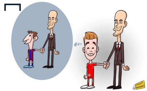 Лучшая карикатура дня. Лионель Месси — пример для Марио Гётце