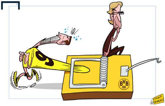 Карикатура. Левандовски в мышеловке