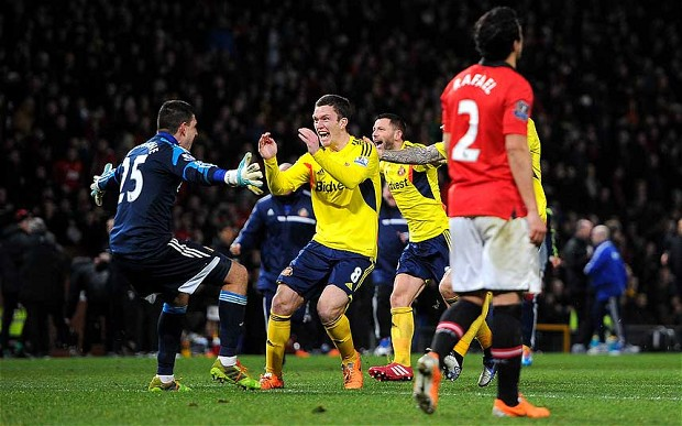 League Cup: Sunderland beat Manchester United at Old Trafford in penalty shootout