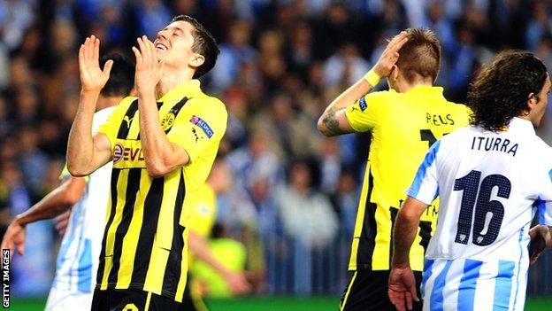 Champions League results: Malaga 0-0 Borussia Dortmund