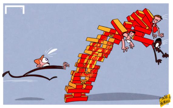 Лучшая карикатура дня. Травмы игроков «МЮ» рушат планы Мойеса