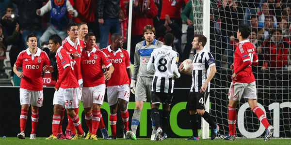 Europe League results: Benfica 3-1 Newcastle