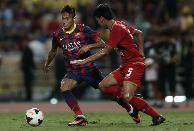 Неймар забил первый гол за «Барселону» (ВИДЕО)