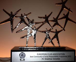 «Шахтер» удостоился награды за лучший социальный проект года
