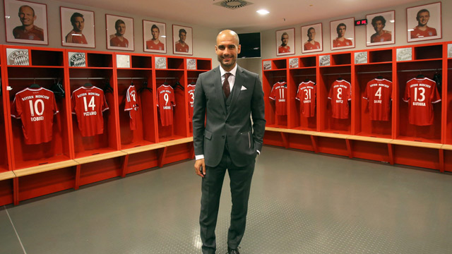 Pep Guardiola admits nervouseness as he is unveiled as new Bayern Munich boss