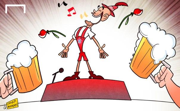 Лучшая карикатура дня: Хосеп Гвардиола официально представлен наставником «Баварии»