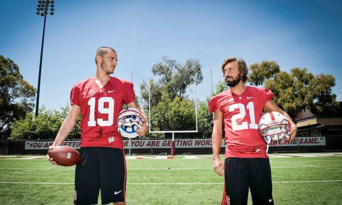 Пирло и Бонуччи сыграли в американский футбол (ФОТО)