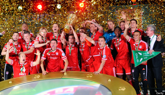 Bayern Munich lift DFB-Pokal trophy