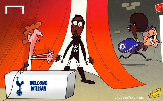 Лучшая карикатура дня. Моуринью похищает Виллиана