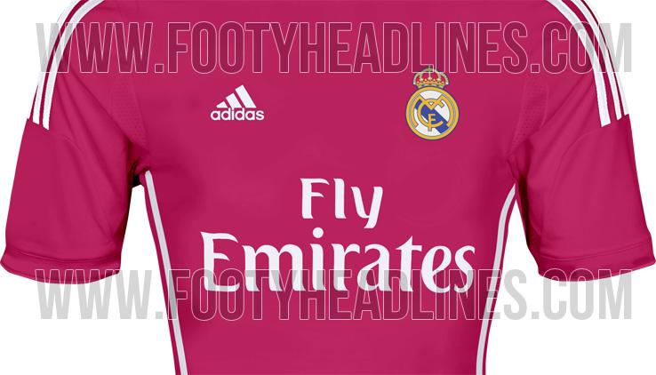 Выездной комплект формы «Реала» в сезоне-2014/15 будет розовым (ФОТО)