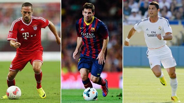 Роналду, Рибери и Месси вошли в шорт-лист претендентов на «Золотой мяч»