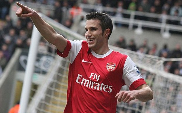 Manchester United signed Robin van Persie from Arsenal