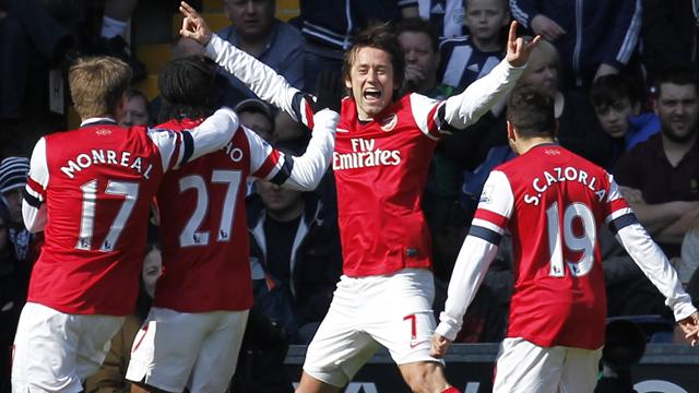 Premier League Matchday 32 results: West Bromwich Albion 1-2 Arsenal