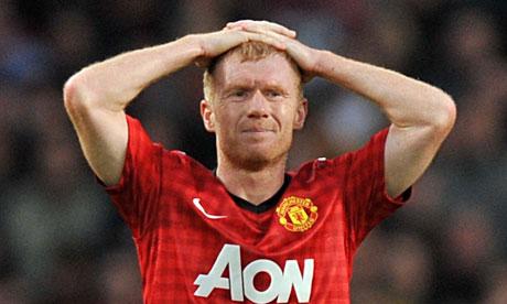 Man Utd Scholes set to miss clash against Reading