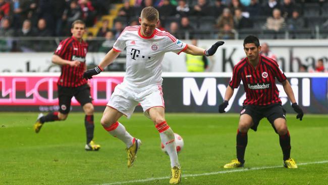 Немецкая Бундеслига. 28-й тур. «Айнтрахт» — «Бавария» — 0:1. «Золотая пятка Швайни»