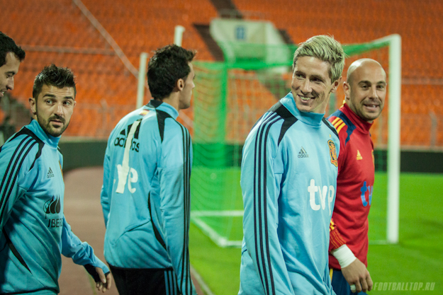 The national team of Spain trained in Minsk