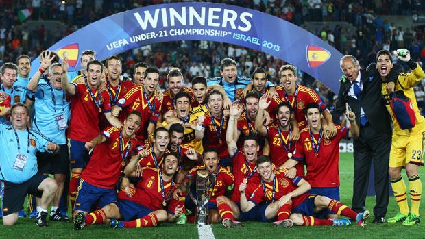 Thiago's hat-trick helps Spain to reclaim U-21 title