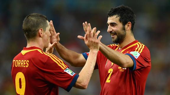 Confederations Cup results: Villa nets three and Torres four, as Spain dismantle brave Tahiti 10-0 (video highlights)