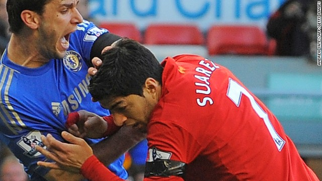 Liverpool Suarez banned for 10 games for biting Ivanovic