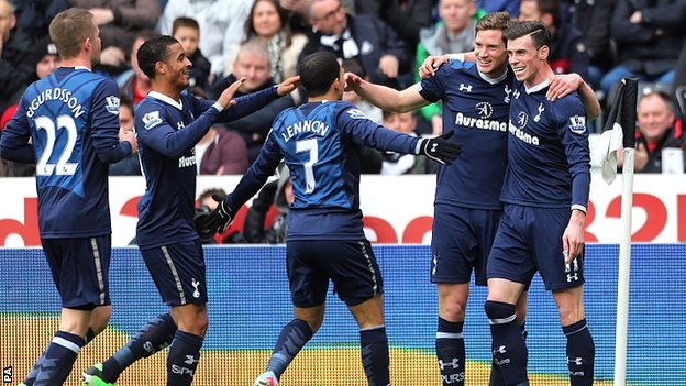Premier League results: Swansea City 1-2 Tottenham