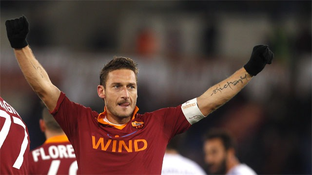 Totti achieves a milestone