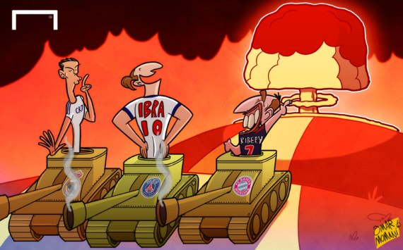 Лучшая карикатура дня. Три танкиста пошумели в Лиге чемпионов
