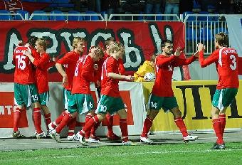 Юниорские сборные Беларуси и Украины сыграли вничью