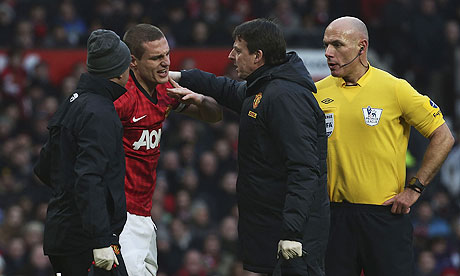 Man Utd Vidić, Young out with injuries